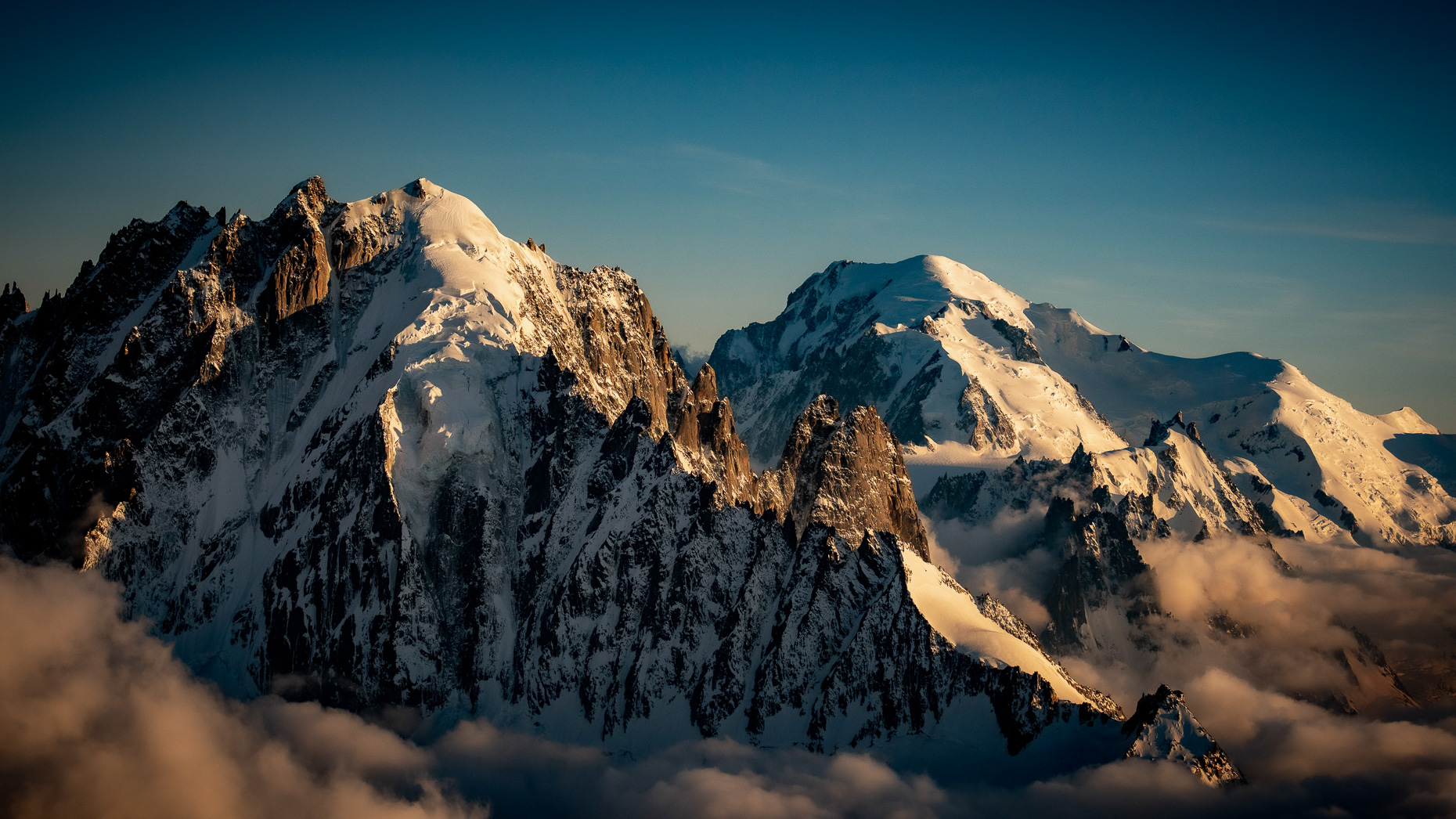 Verte and Mont Blanc