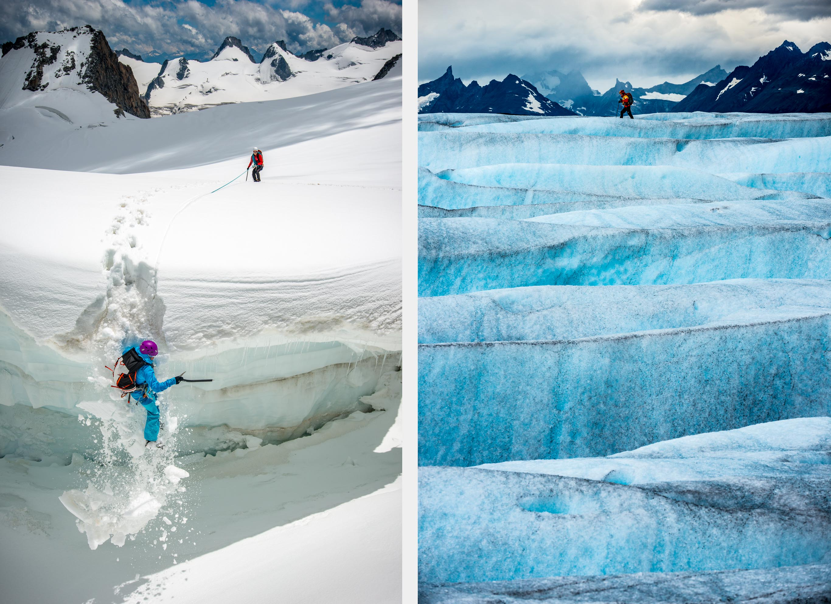 Crevasse Fall | Glacier Layers